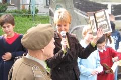 Wojtek - miś żołnierz w sp72 Kraków